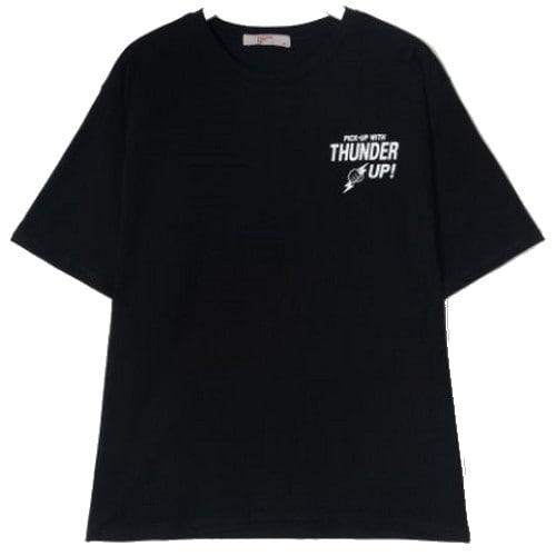 에잇세컨즈 남성 블랙 백 레터링 티셔츠 229642TB15_이미지