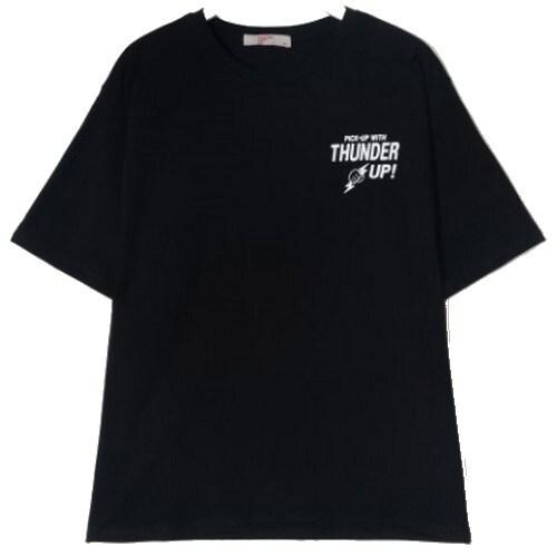 에잇세컨즈 블랙 백 레터링 티셔츠 229642TB15_이미지