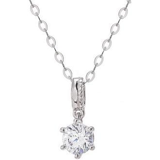 몰리즈 18K 오에리 5부 다이아몬드 목걸이 S96714P+S71372C_DIA_이미지