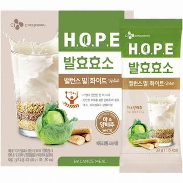 CJ제일제당  HOPE 발효효소 밸런스밀 화이트 14포 (1개)