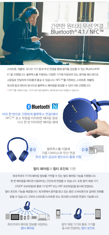 SONY MDR-XB950B1 블루