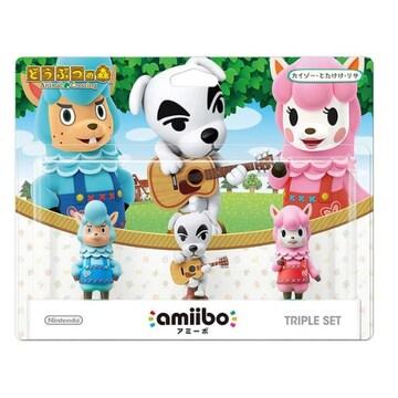 Nintendo 아미보 카이조 + TK + 리사 (Kaizou + Totakeke + Reese) 동물의 숲 시리즈(병행수입)