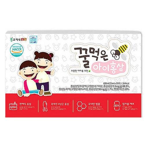 고철남홍삼 꿀먹은 아이홍삼 20ml 30포 (1개)