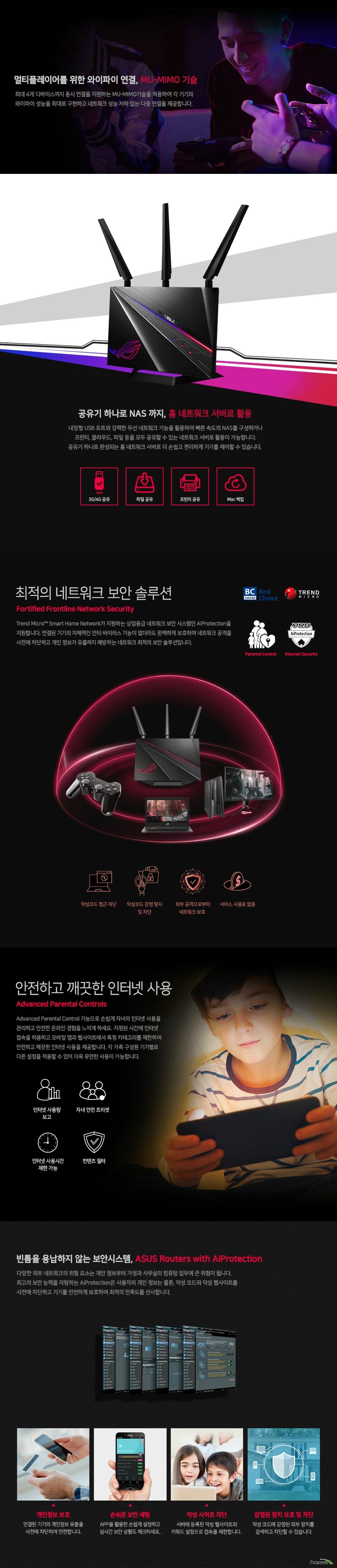 ASUS ROG Rapture GT-AC2900 유무선공유기