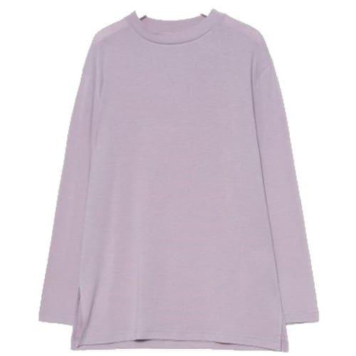 에잇세컨즈 여성 라벤더 솔리드 베이직 포인트 슬릿 티셔츠 169841JY1T_이미지