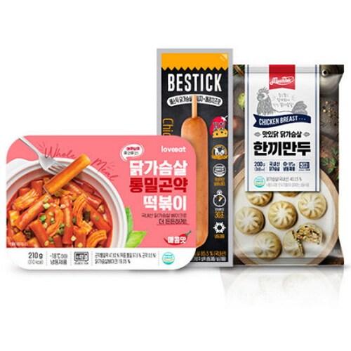 푸드나무 맛있닭 닭가슴살 떡소만 분식세트 3종류 5팩 (1개)_이미지