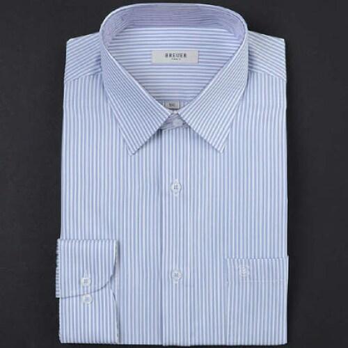 에스제이듀코 브로이어블루 스트라이프 긴소매 셔츠 ED7SM32LS705EBU_이미지