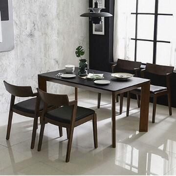 삼익가구  티볼리 화산석 식탁세트 1400 (의자4개)
