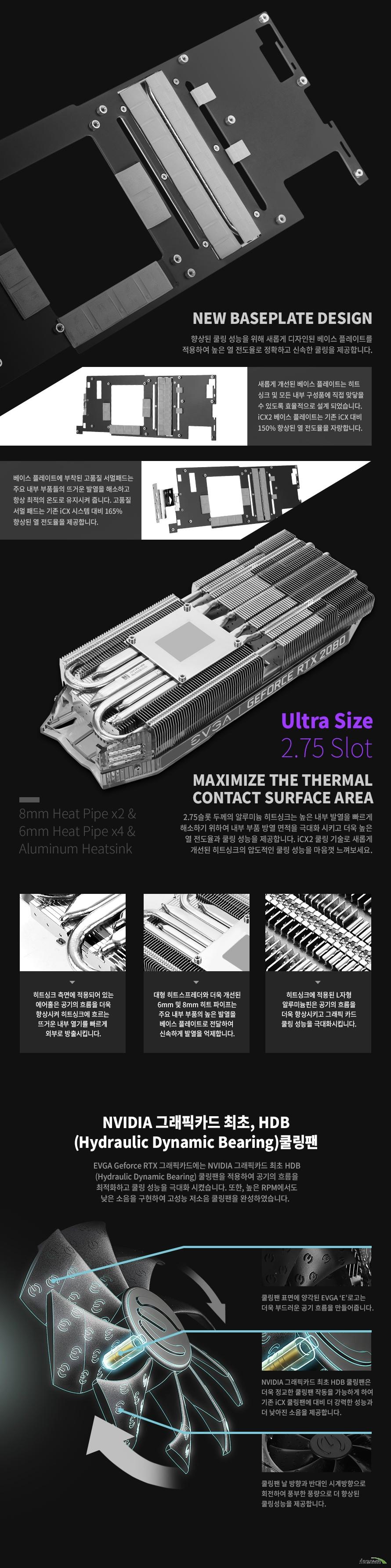 EVGA  지포스 RTX 2080 XC ULTRA GAMING D6 8GB