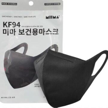 미마 보건용 KF94 중형 블랙 (1개)_이미지