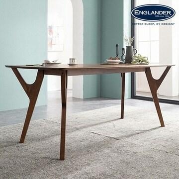 잉글랜더 제우스 고무나무 원목 식탁 (의자별도)_이미지