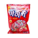 크라운제과 마이쮸 딸기맛 + 복숭아맛 328g  (1개)