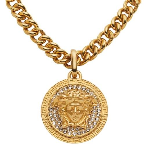 베르사체 Medusa Crystal Pendant Necklace DG17382 DJMX KCOT_이미지