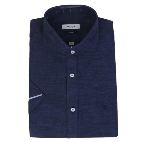 에스제이듀코 브로이어블루 슬림핏 반소매 셔츠 ED7MM52HS750ENY_이미지