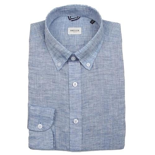 에스제이듀코 브로이어블루 긴소매 버튼다운 마소재 슬림핏 셔츠 ED7SM51LS333EBU_이미지