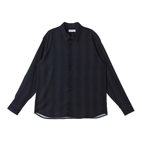 코오롱인더스트리 커스텀멜로우 볼드스트라이프 쉬폰 셔츠 CWSAW164991GRX_이미지