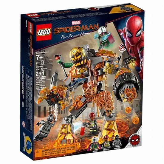 레고 마블 슈퍼히어로 스파이더맨 파프롬홈 몰튼맨과의 대결 (76128) (정품)