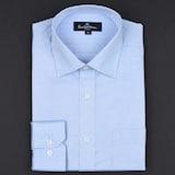 클리포드 카운테스마라 블루 헤링본 도비 일반핏 긴소매 셔츠 CDSP3B3106B0_이미지