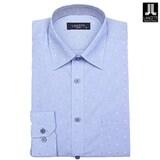 란체티  블루 플라워 도트 일반핏 긴소매 셔츠 LPF8209BL_이미지