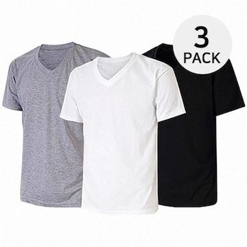 남녀공용 GL 순면 국내생산 30수 V넥 티셔츠 3종세트