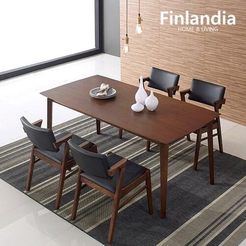 올펀 핀란디아 멜로디S 와이드형 식탁세트 (의자4개)_이미지