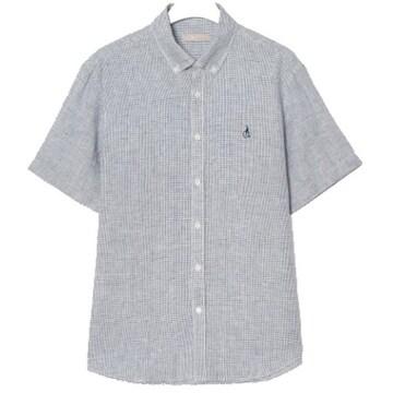 빈폴 화이트 리넨 미니 윈도우 체크 셔츠 BC0465A111