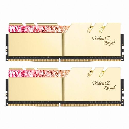 G.SKILL DDR4 16G PC4-25600 CL14 TRIDENT Z ROYAL 골드 (8Gx2)