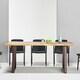 데코마인 주피터 우드슬랩 몽키포드 테이블 기본다리형 2400 (의자별도)_이미지