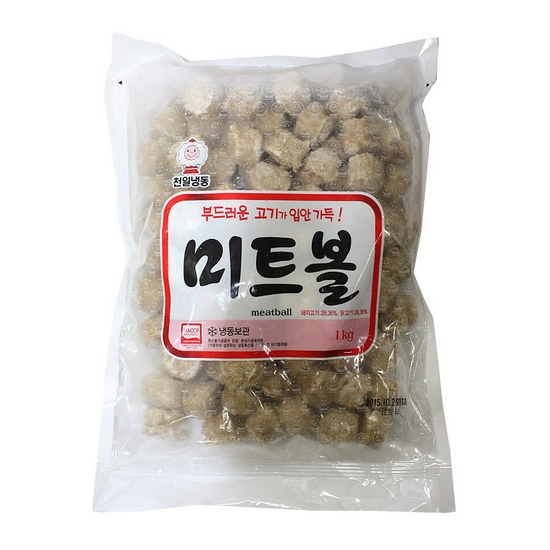 천일식품 미트볼 1kg (1개)_이미지