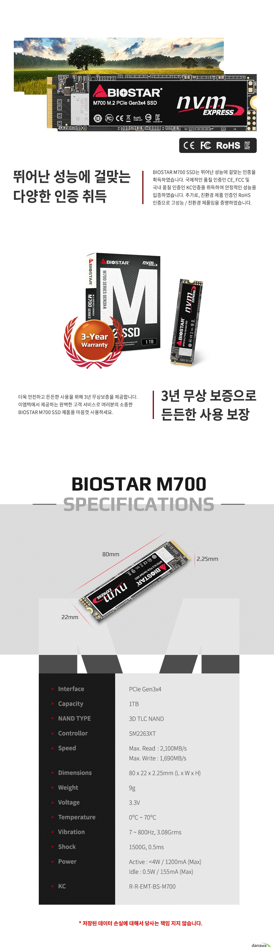 BIOSTAR M700 M.2 NVMe (1TB)