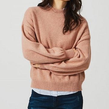 지오다노  여성 목넥 벌룬 슬리브 스웨터 풀오버 357906