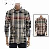 인디에프 테이트 남성 고품격 체크 셔츠 KA5F8-MRC120_이미지
