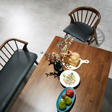 채우리  그로잉 원목 식탁세트 1850 (의자3개+벤치1개)