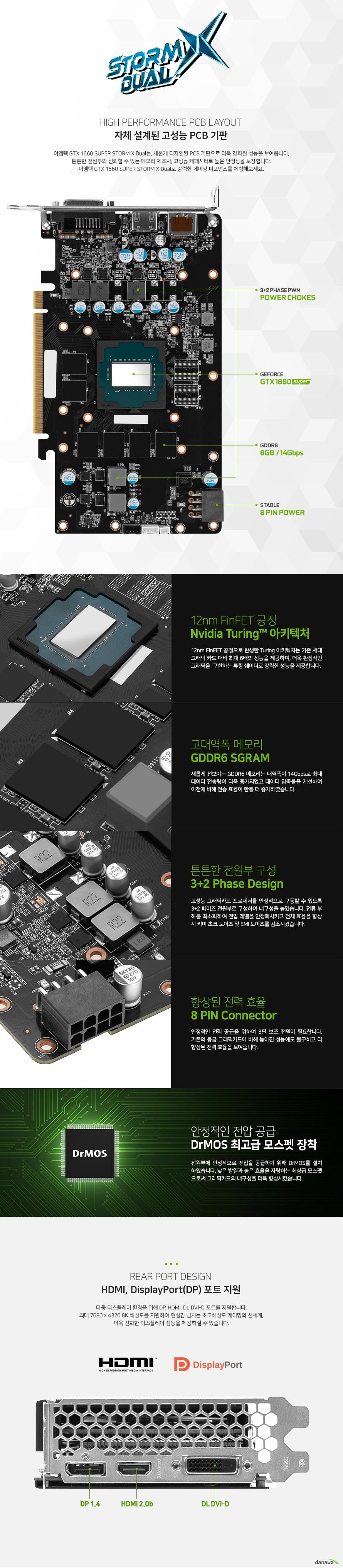 이엠텍 지포스 GTX 1660 SUPER STORM X Dual D6 6GB