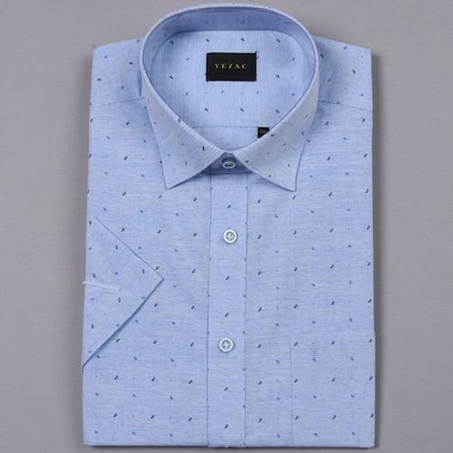 패션그룹형지 예작 페이즐리 프린트 텍스타일 반소매 셔츠 YJ8MBR967BL_이미지