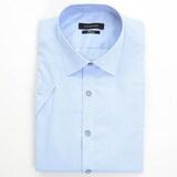 루이까또즈  블루 도트 핀체크 슬림핏 반팔 셔츠 Q6E592_이미지