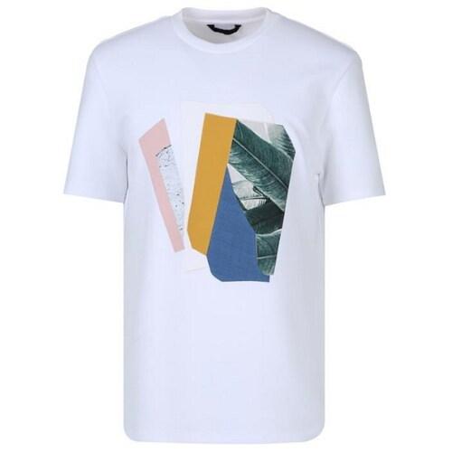 신성통상 지오지아 레이온혼방 아플리케 그래픽 티셔츠 AAY2TR1101WT_이미지