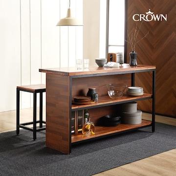 크라운퍼니쳐  카페에디트 수납 홈바 아일랜드식탁 900x450 (의자별도)