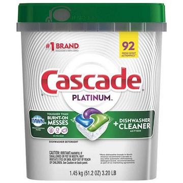 캐스케이드 플래티넘 식기세척기 세제 92개입 해외구매