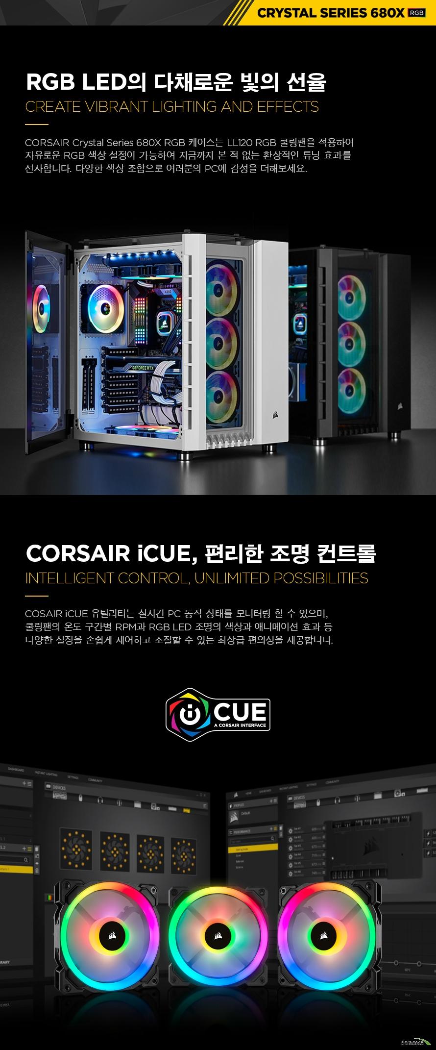 CORSAIR CRYSTAL SERIES 680X RGB(화이트)