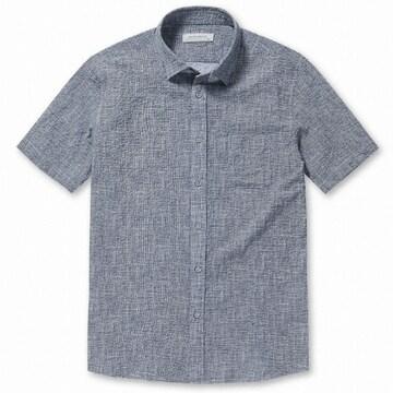 브렌우드 프린트 시어서커 포켓 셔츠