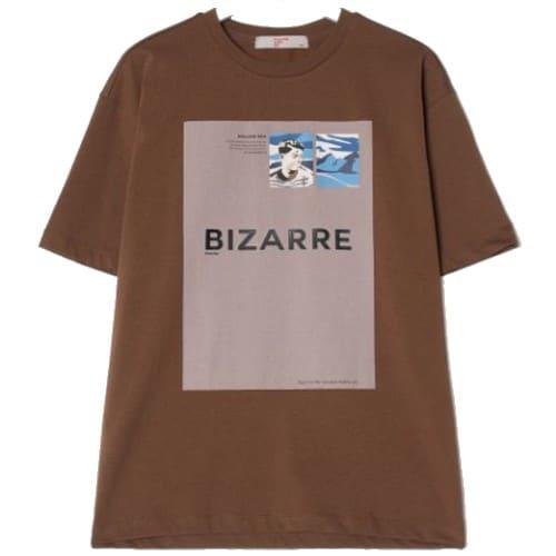에잇세컨즈 남성 브라운 그래픽 포인트 티셔츠 219342AY8D_이미지