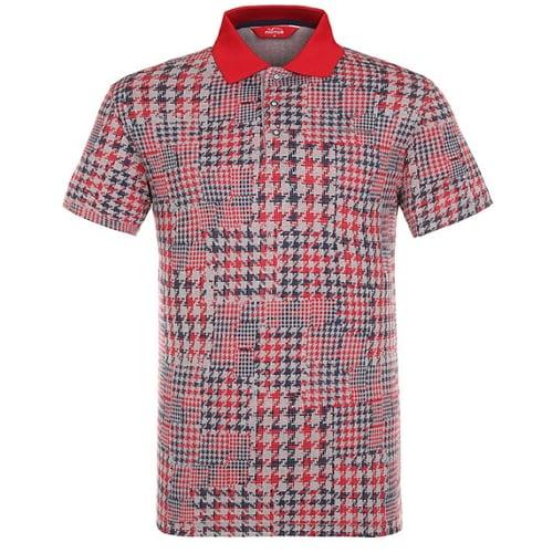 팬텀 하운드 투스 체크 카라 반팔 티셔츠 21172TO035_RE_이미지
