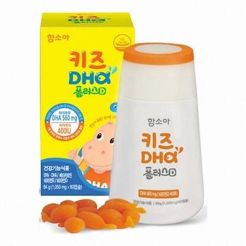 함소아제약 함소아 키즈 DHA 플러스D 80캡슐 (2개)