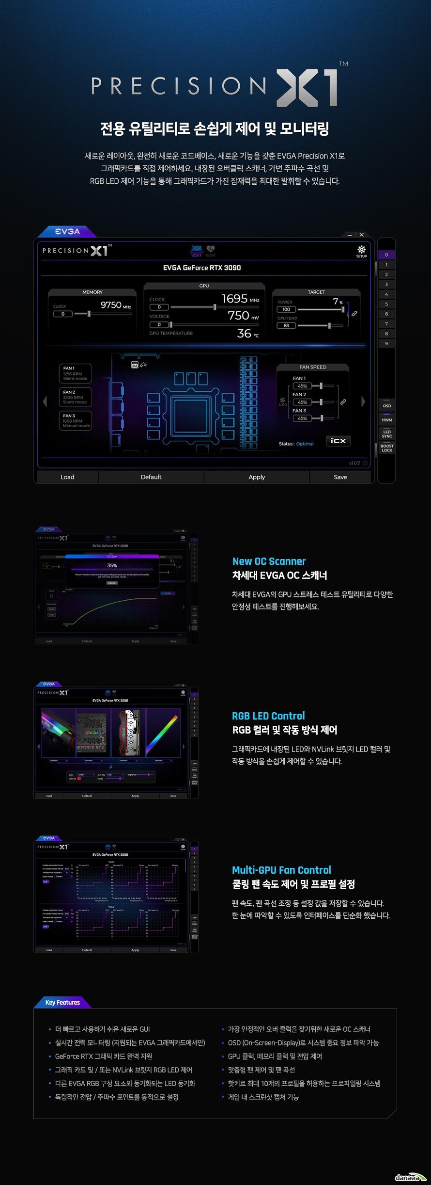 EVGA 지포스 RTX 3090 FTW3 ULTRA GAMING D6X 24GB
