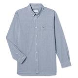 동일드방레 라코스테 남성 포플린 스트레치 슬림 체크 셔츠 CH7501-18A (네이비)_이미지