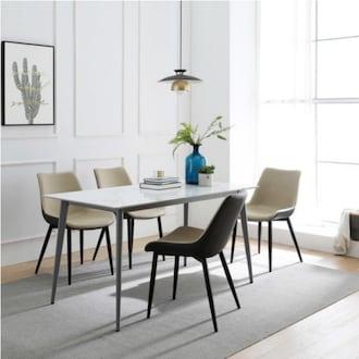 파란들 베로니카 12T 통세라믹 식탁세트 1500 (의자4개)_이미지