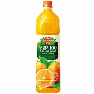 롯데칠성음료 델몬트 오렌지100 1.5L(12개)