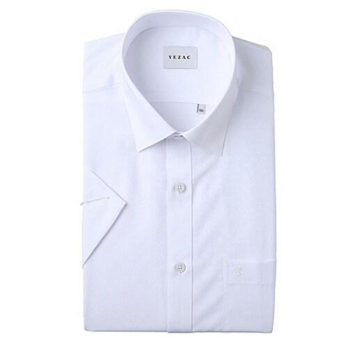 패션그룹형지 예작 화이트 모달 사각도비 일반핏 반소매 셔츠 YJ8MBR210WH_이미지