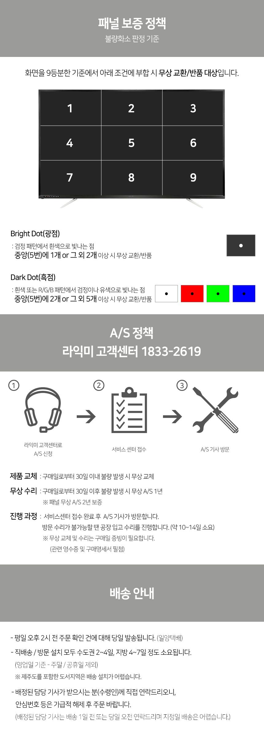 라익미 스마트 DS7001L 4K HDR 다이렉트TV (벽걸이)